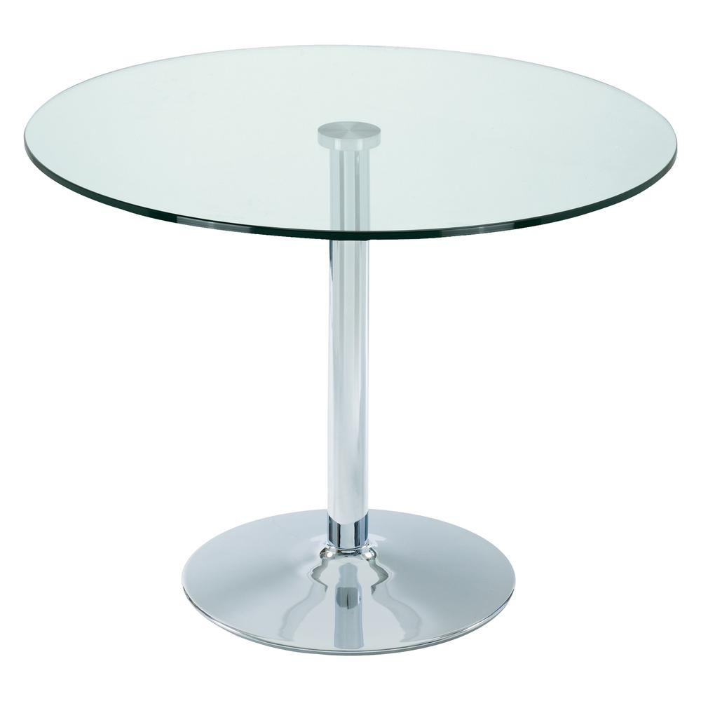 Tersus 2-3 seater dining table medium clear