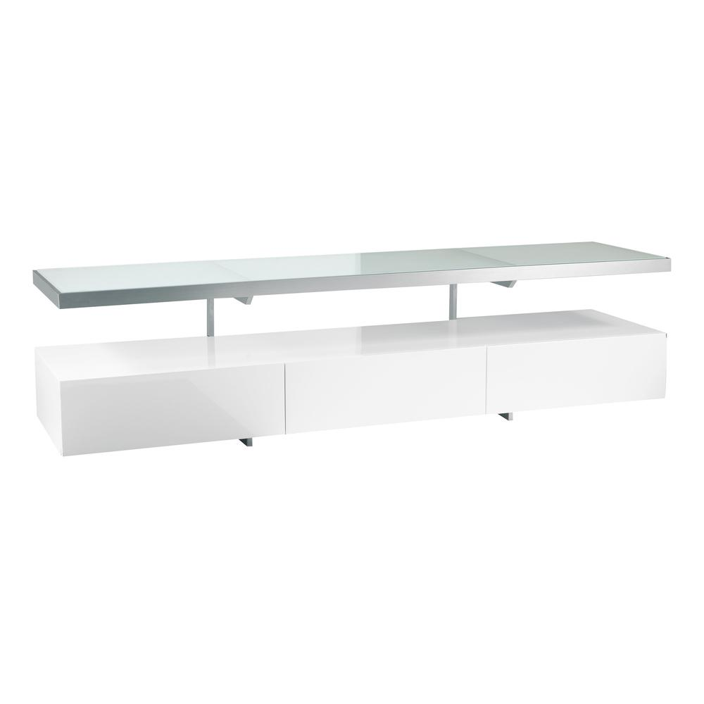 Magro floating shelf TV unit white