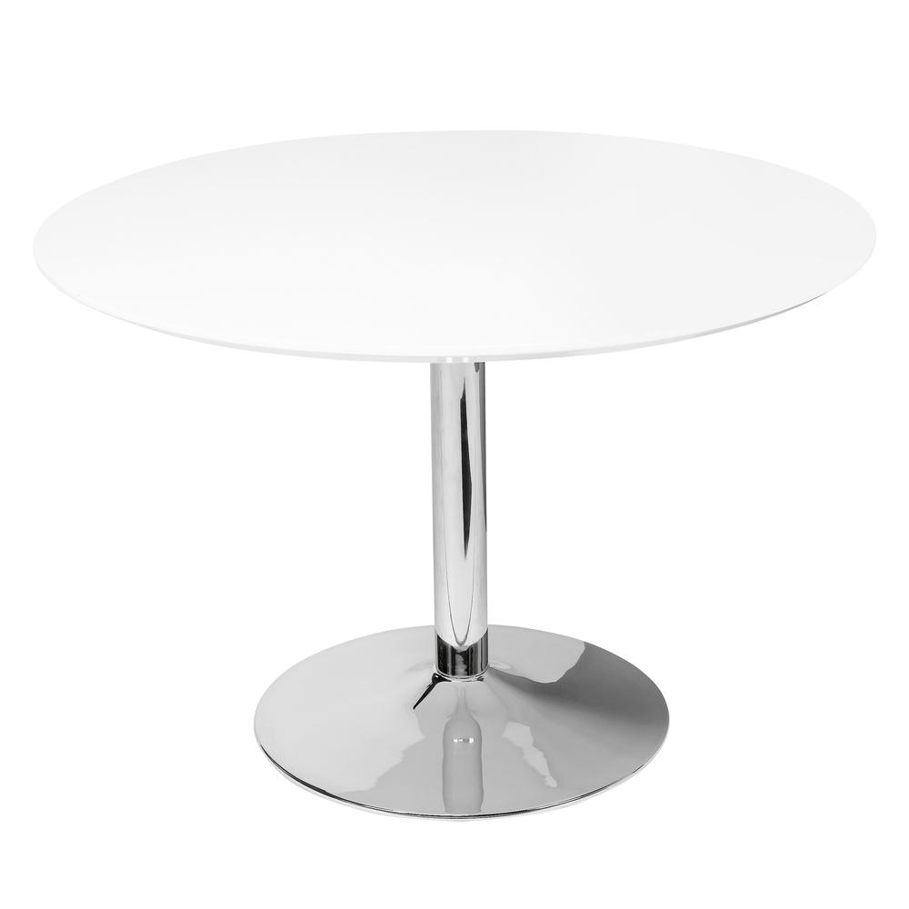 Tersus gloss 4-5 seater dining table large white