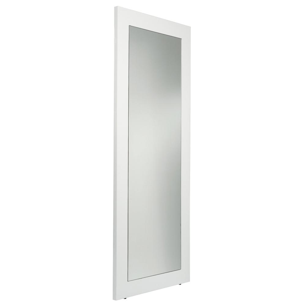 Tall gloss floor mirror white
