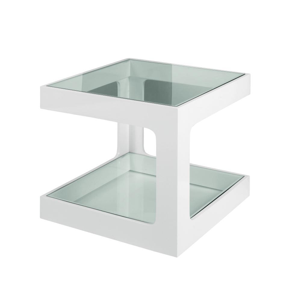 Mixta gloss side table white