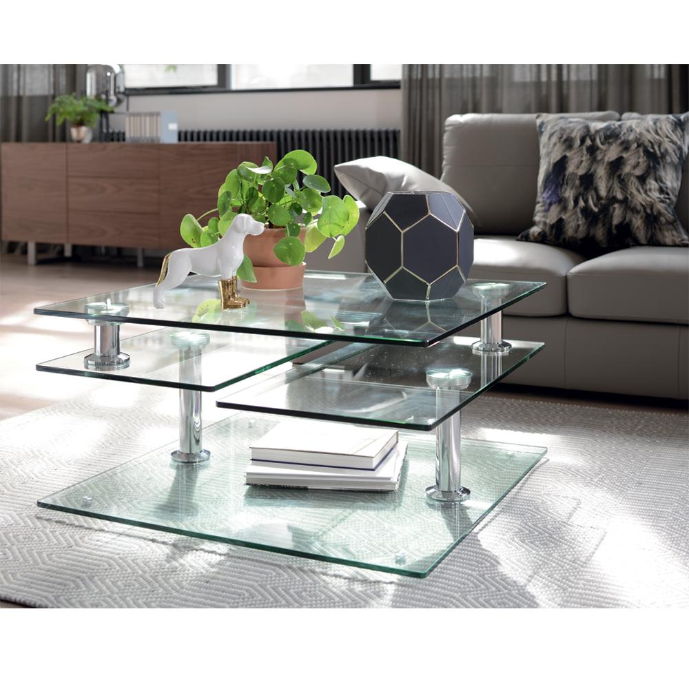 Motab Extending Glass Coffee Table Clear Dwell