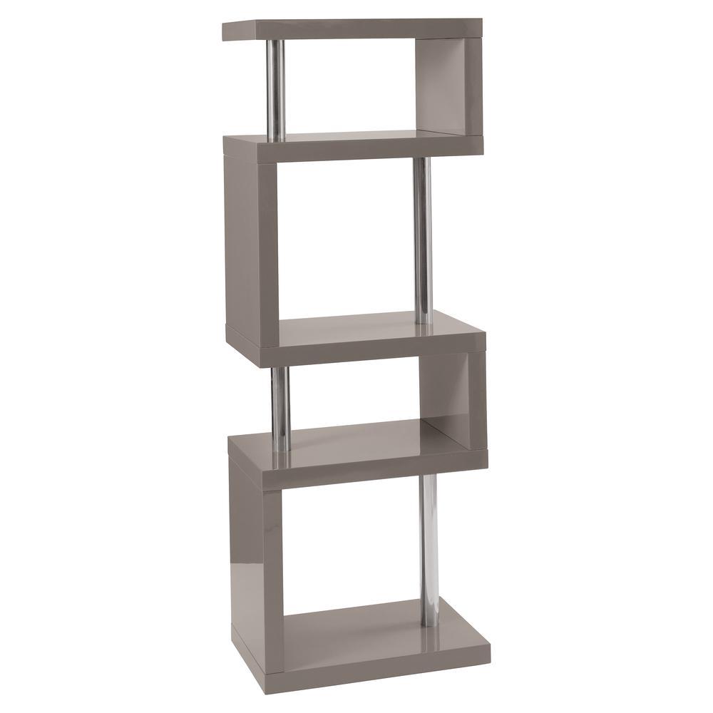 Contour slim shelving bookcase stone
