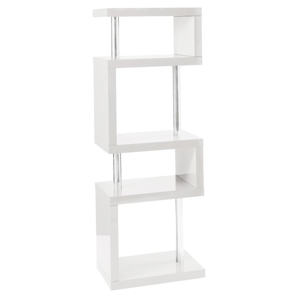 Contour slim shelving bookcase white