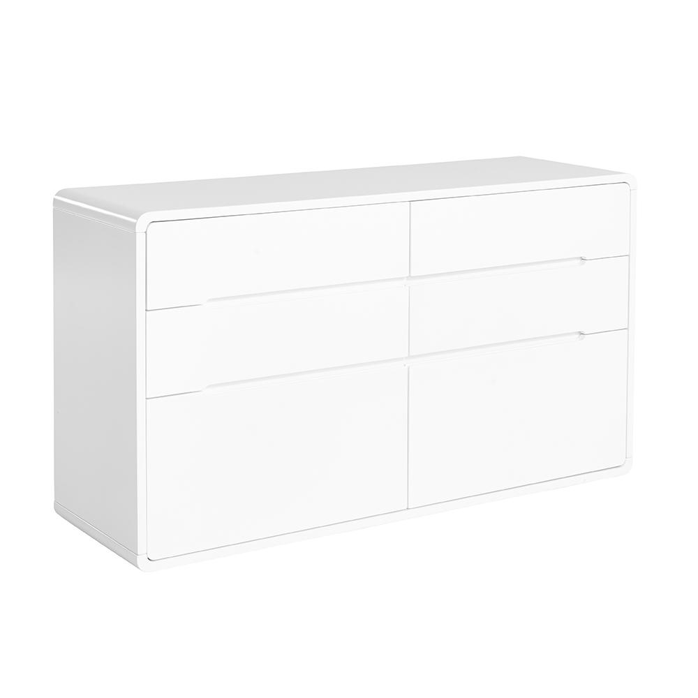 Basel II six chest of drawers white