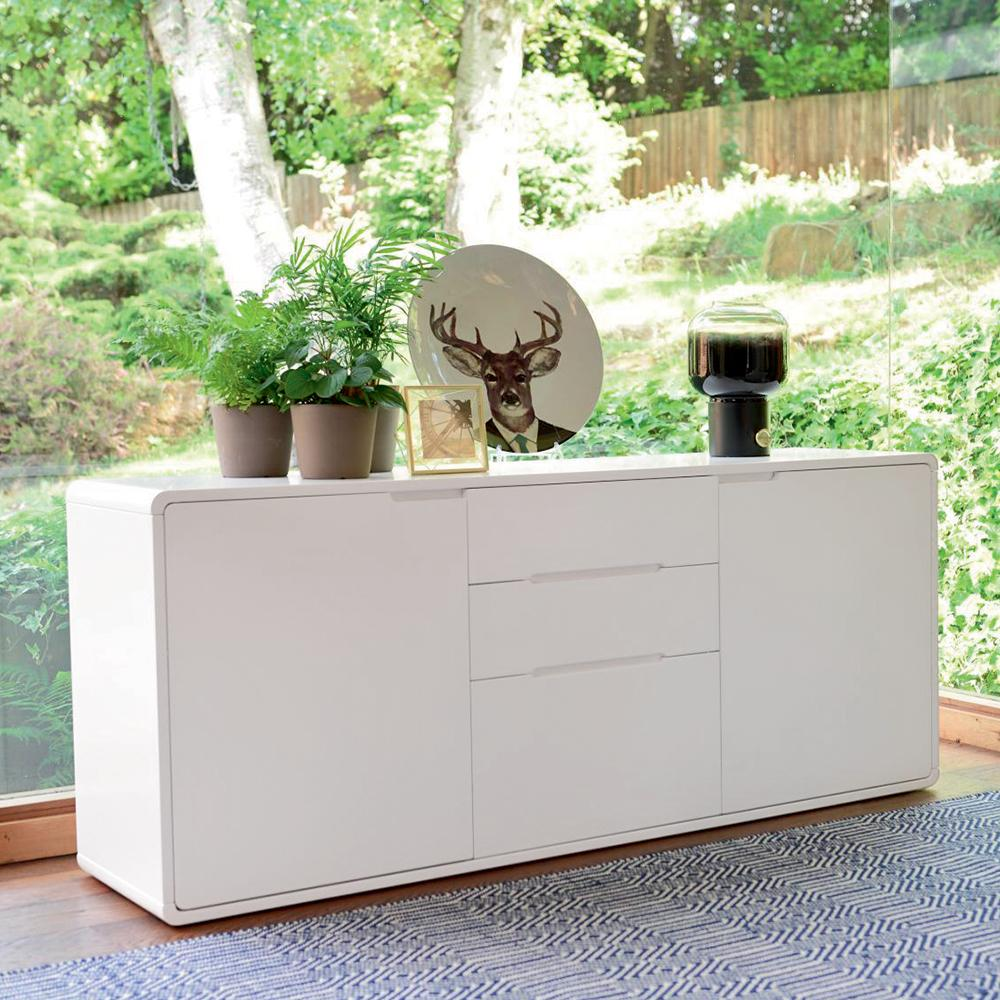 Basel II two door sideboard white