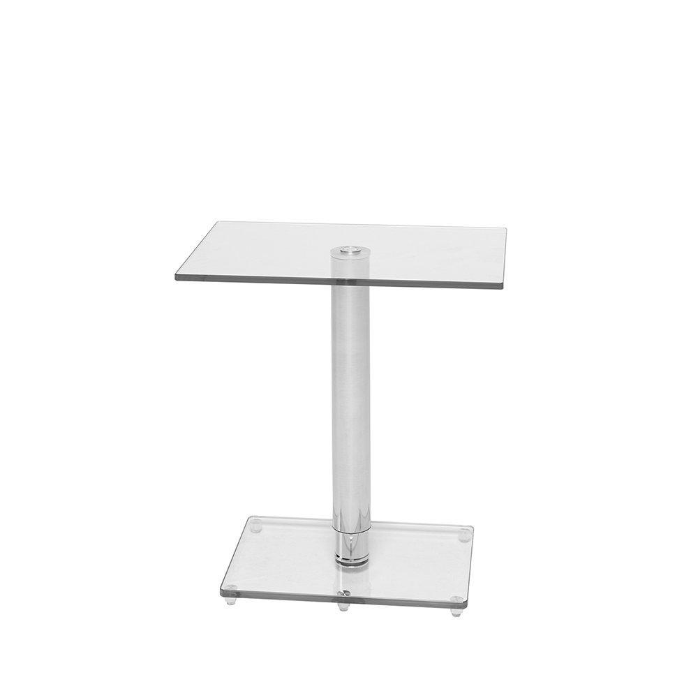 Tomasz II adjustable rectangular side table clear