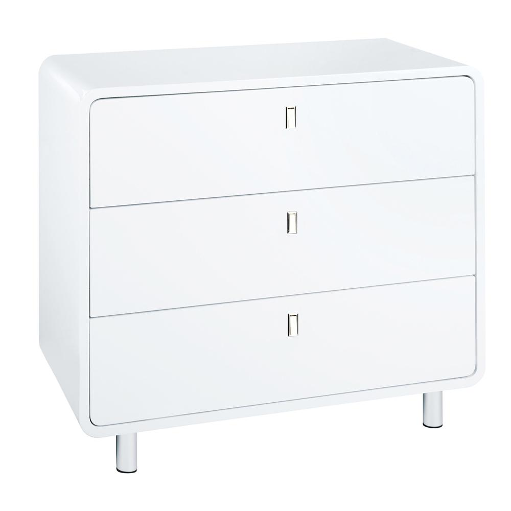 Malone II wide chest of drawers white