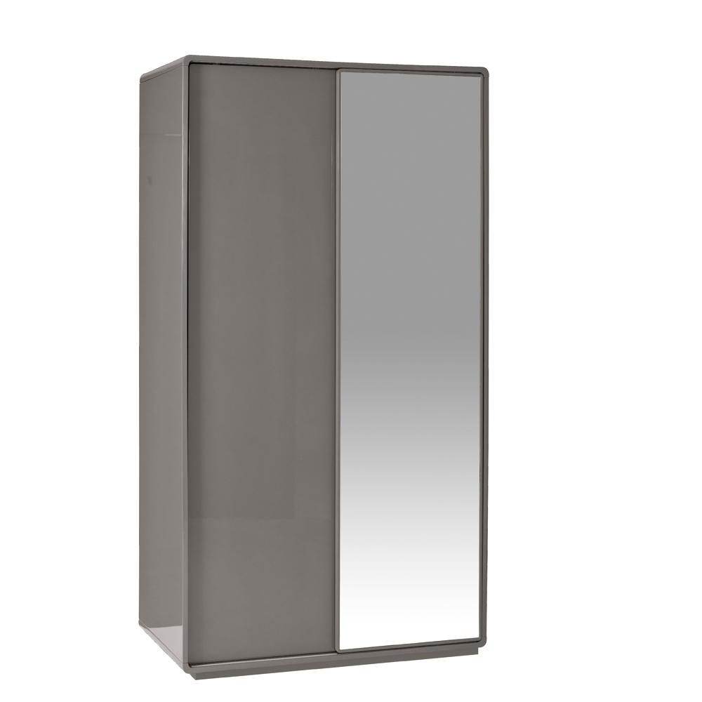 Malone II sliding mirror door wardrobe stone