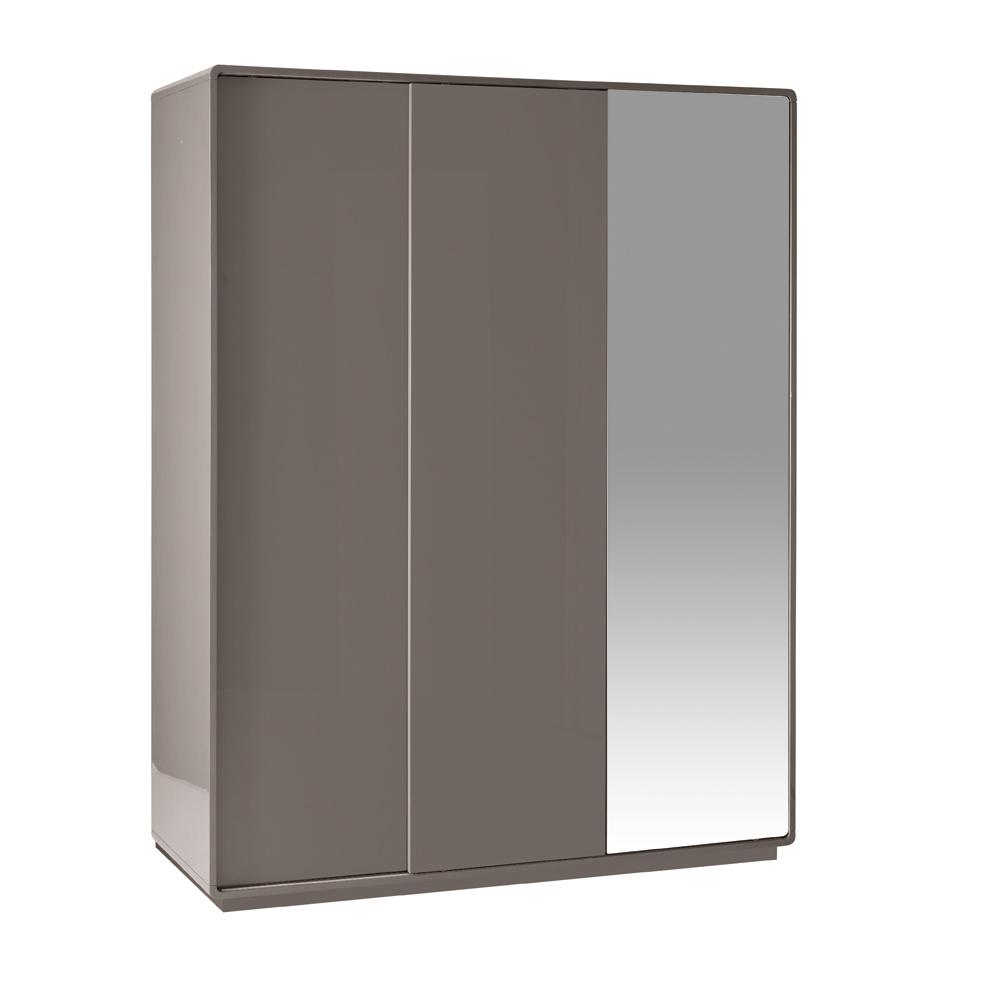 Malone II sliding mirror door wardrobe large stone