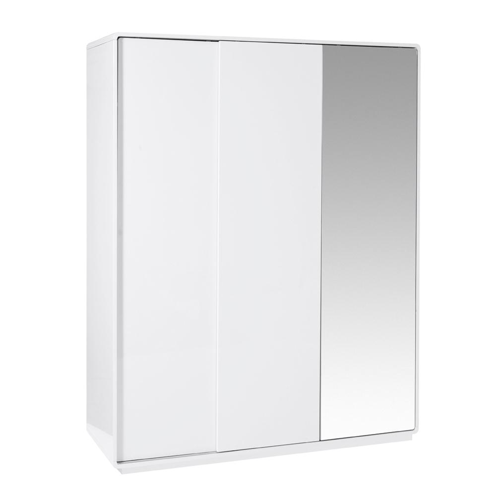 Malone II sliding mirror door wardrobe large white