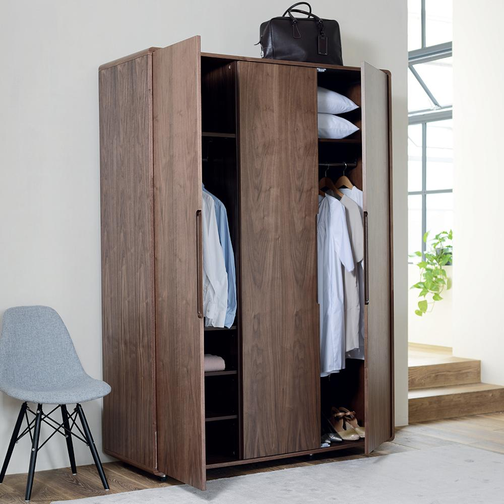 Notch II wardrobe three door walnut