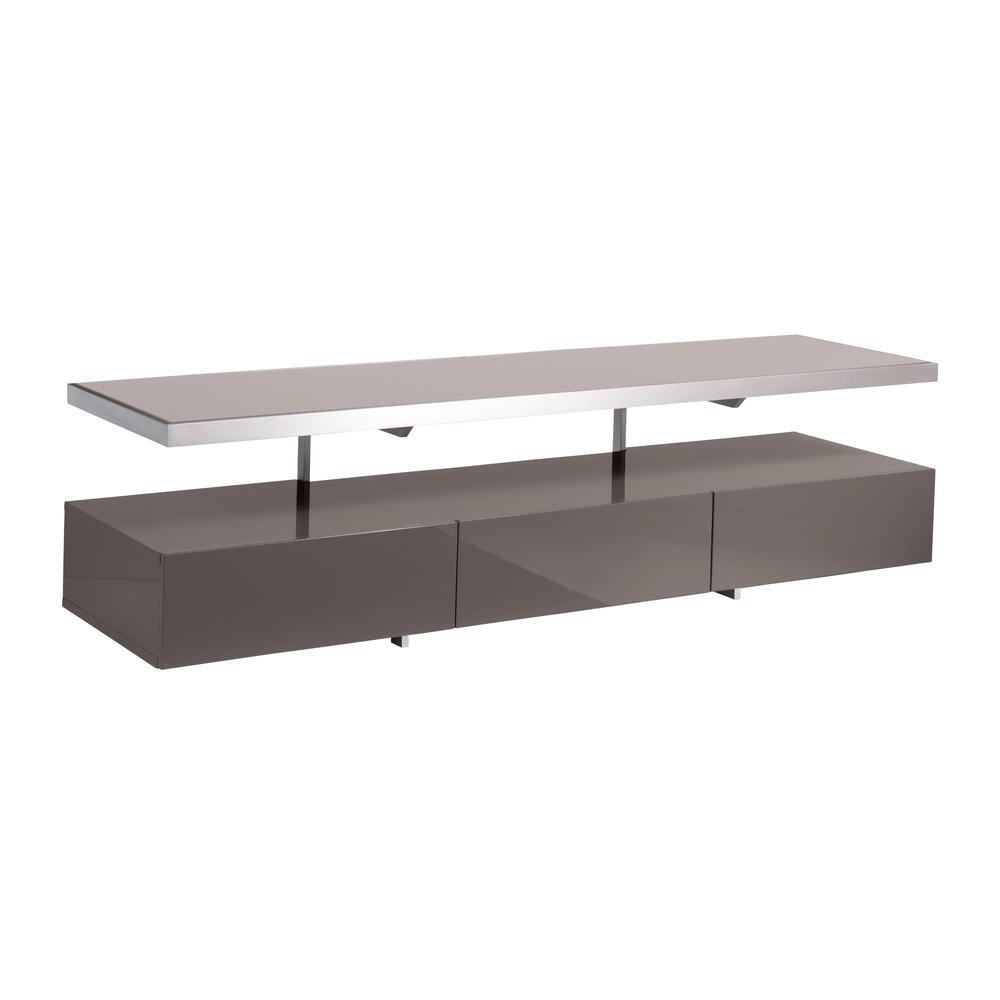 Magro floating shelf TV unit stone