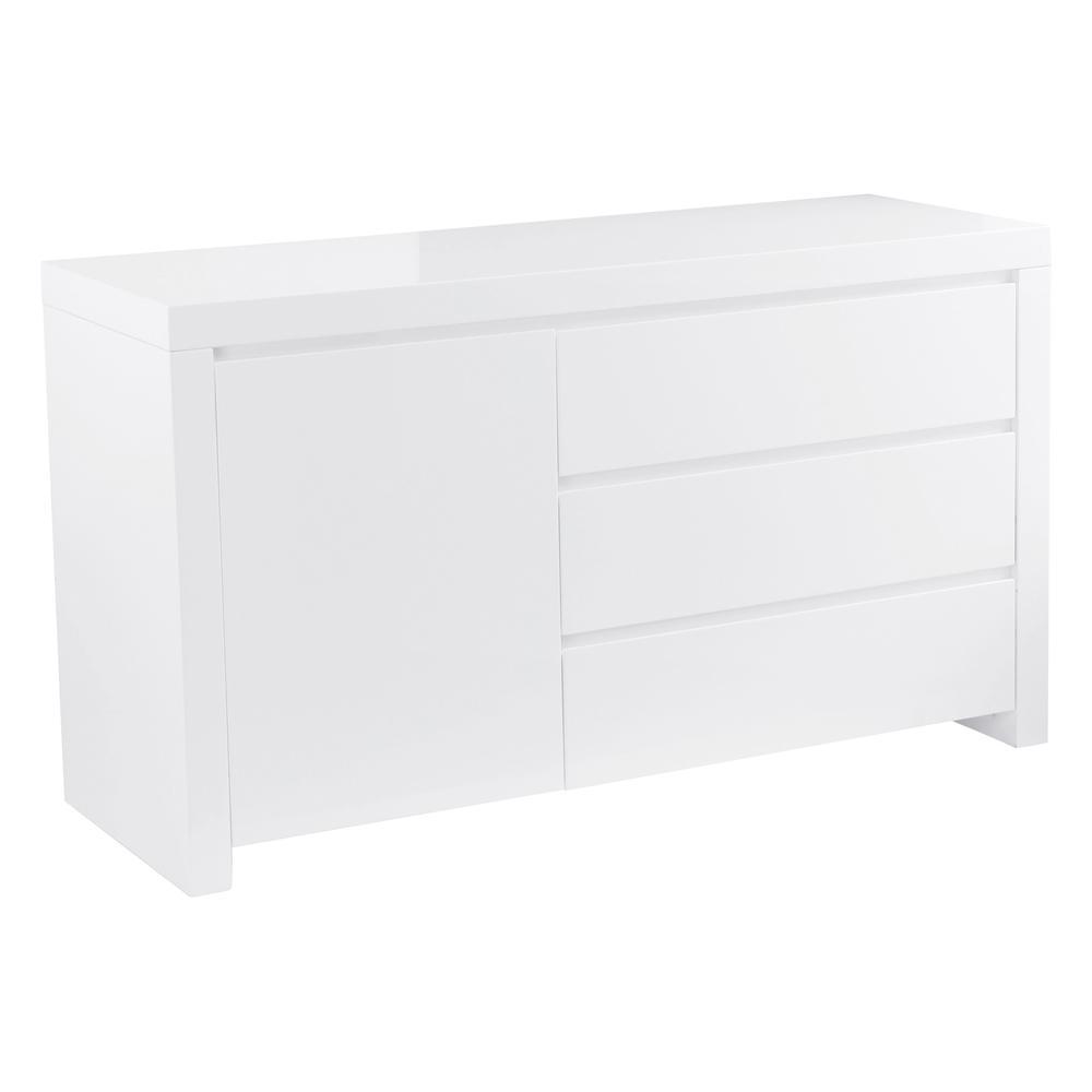 Newton II compact storage sideboard white