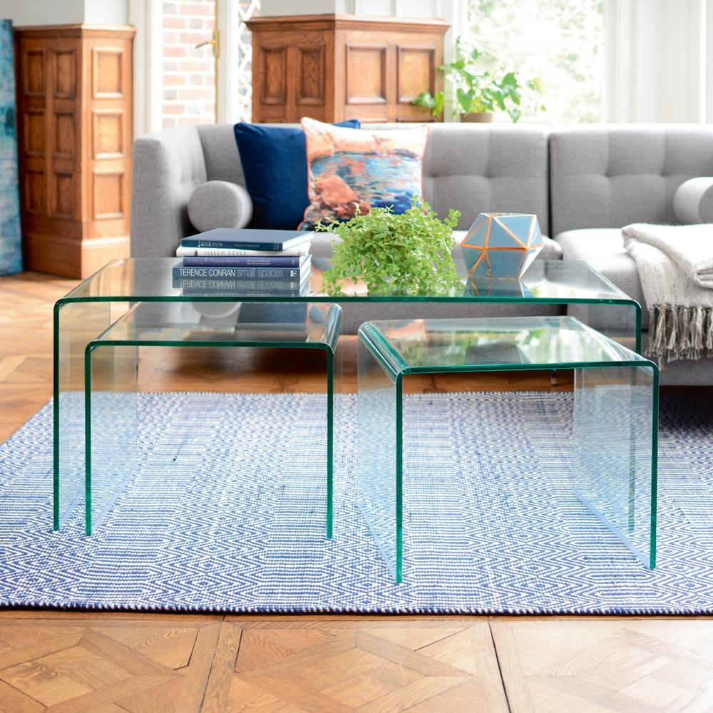 Pulito glass coffee table set