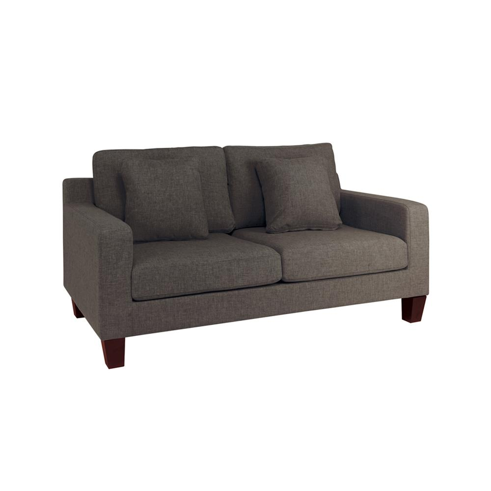Ankara II two seater sofa patet truffle