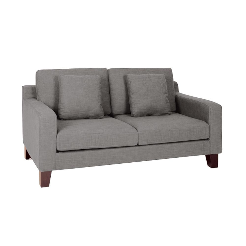 Ankara II two seater sofa patet light grey