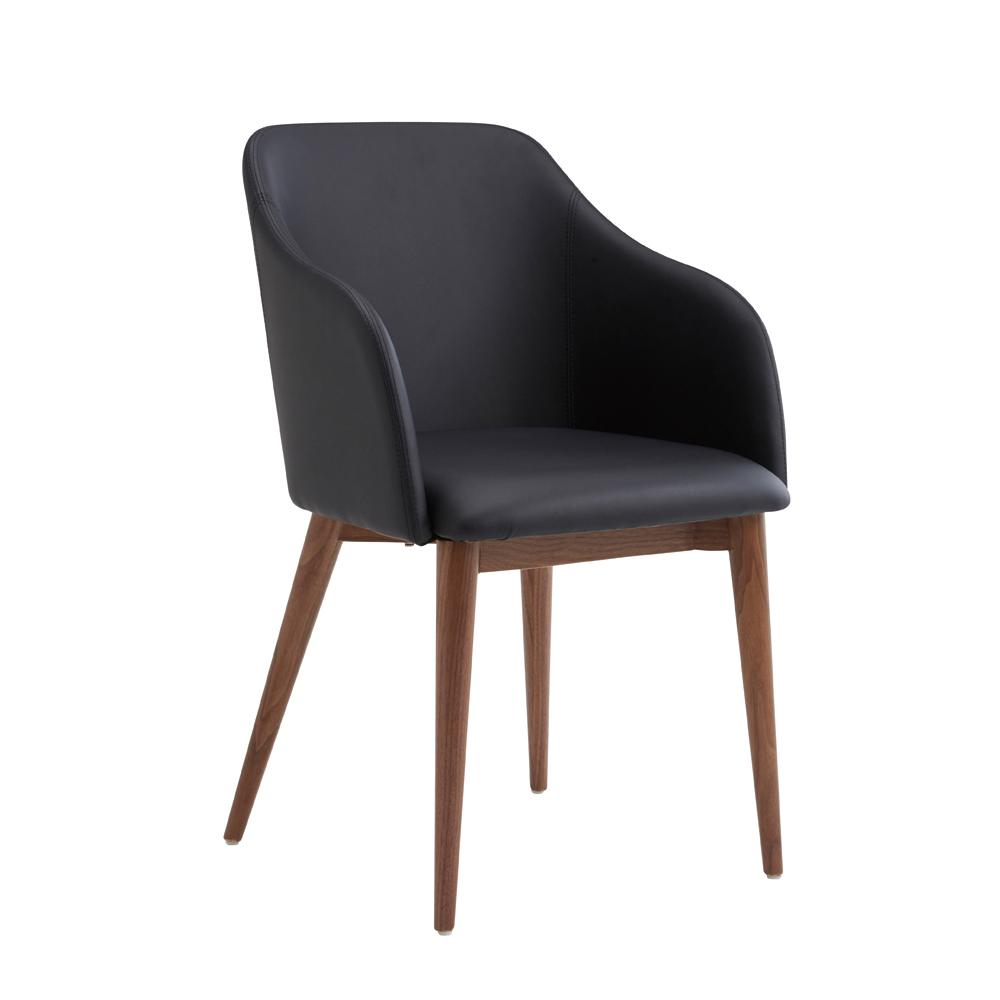 Dip dining chair black