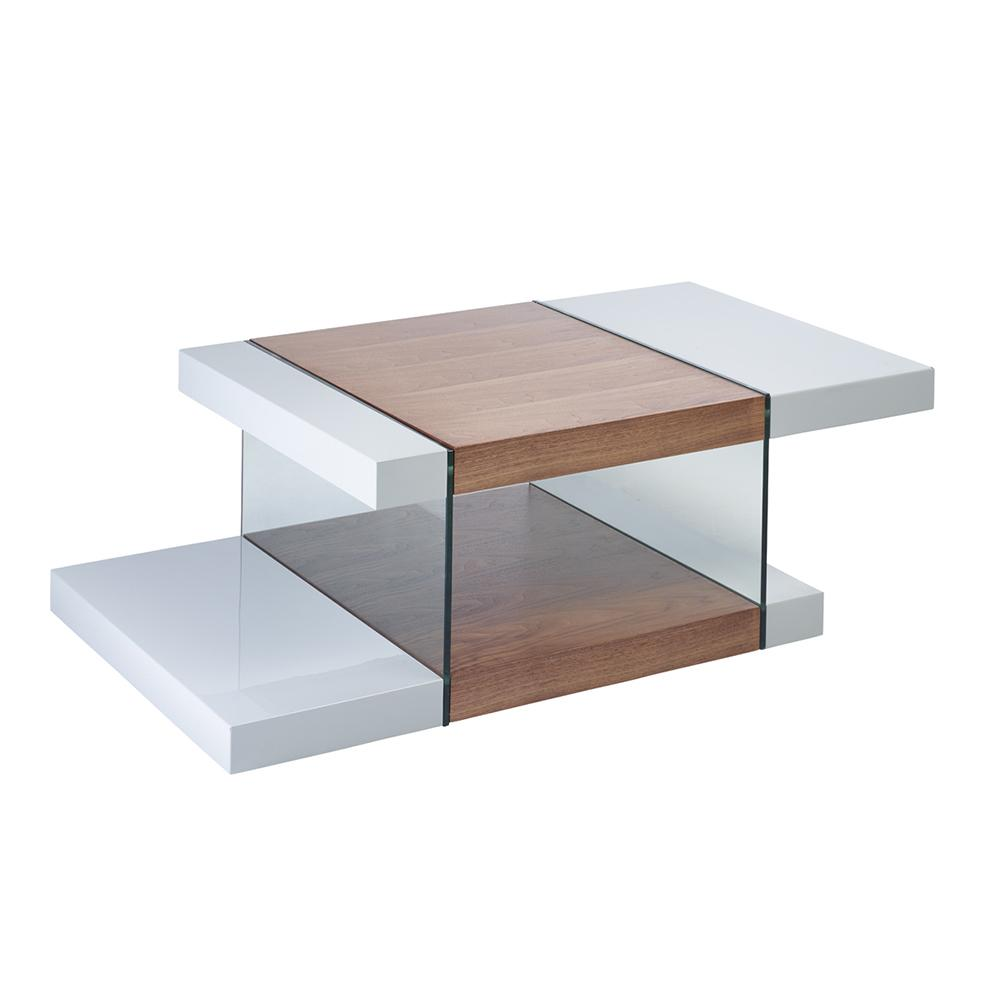 Sturado coffee table light grey and walnut