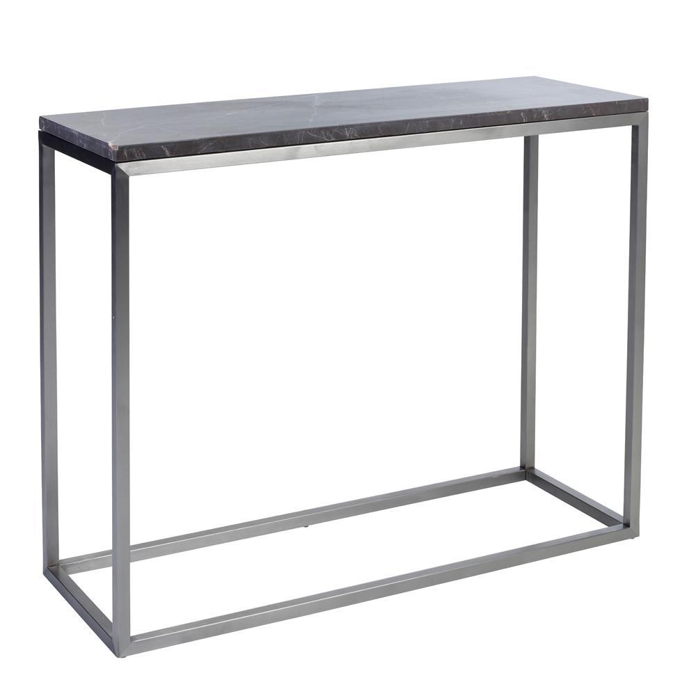 Cadre marble console table grey