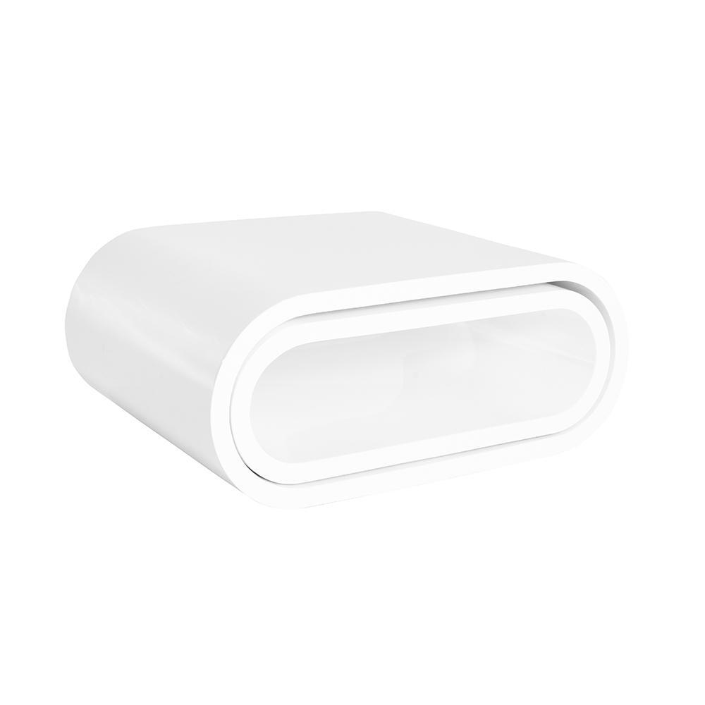 Ovatus gloss coffee table set white
