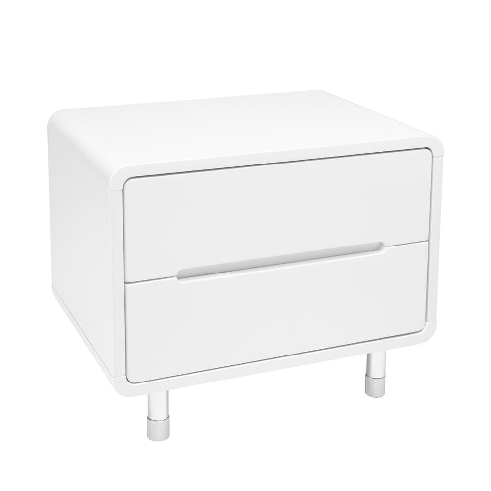 Notch II bedside table white