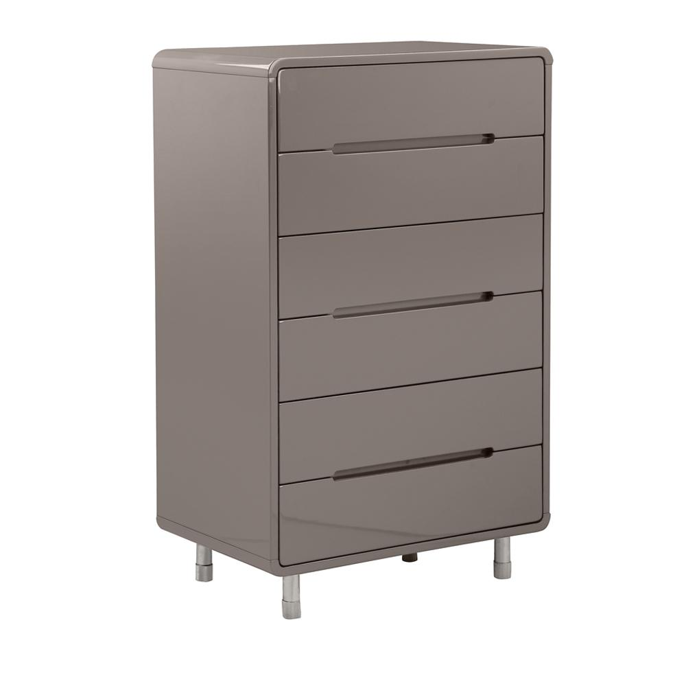 Notch II tall chest of drawers stone