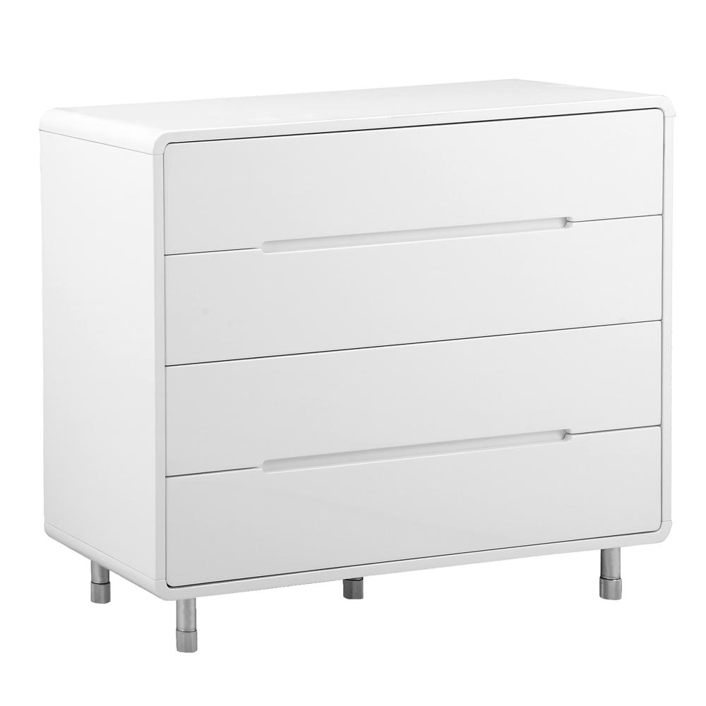 Notch II wide chest of drawers white