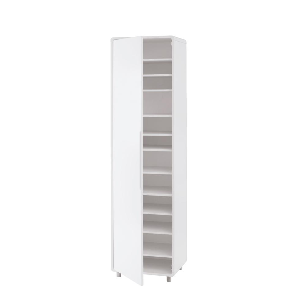 Notch II tall shoe storage cupboard white