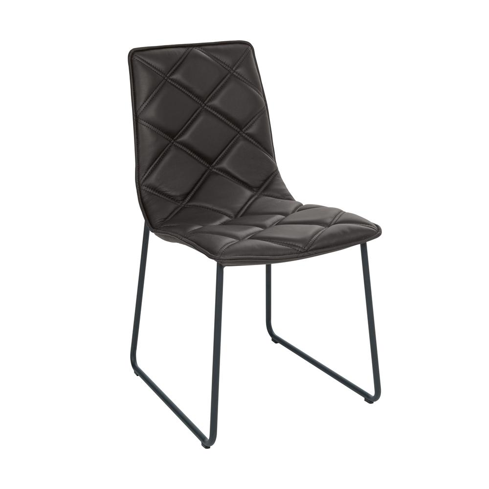 Portela dining chair faux leather black