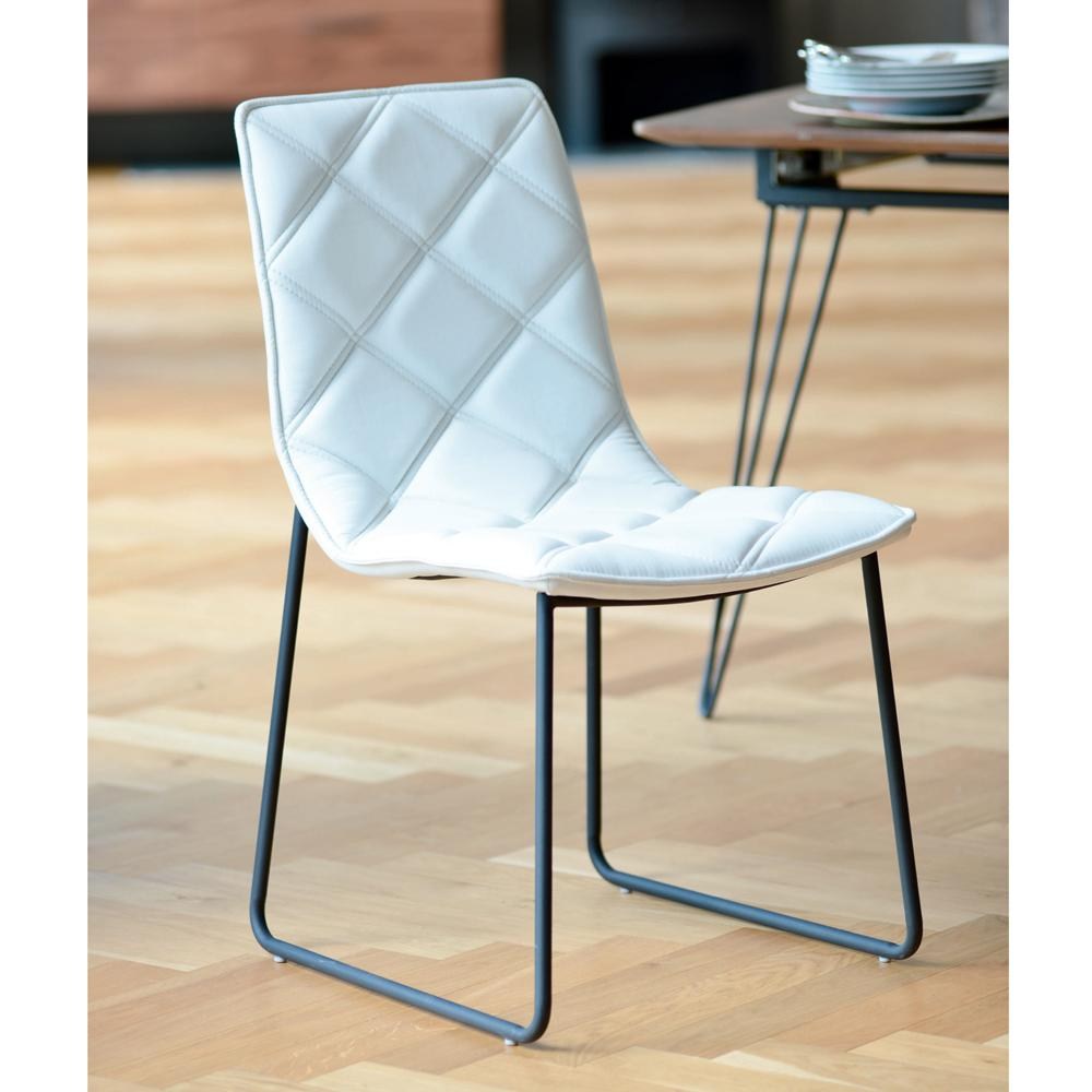 Portela dining chair faux leather white