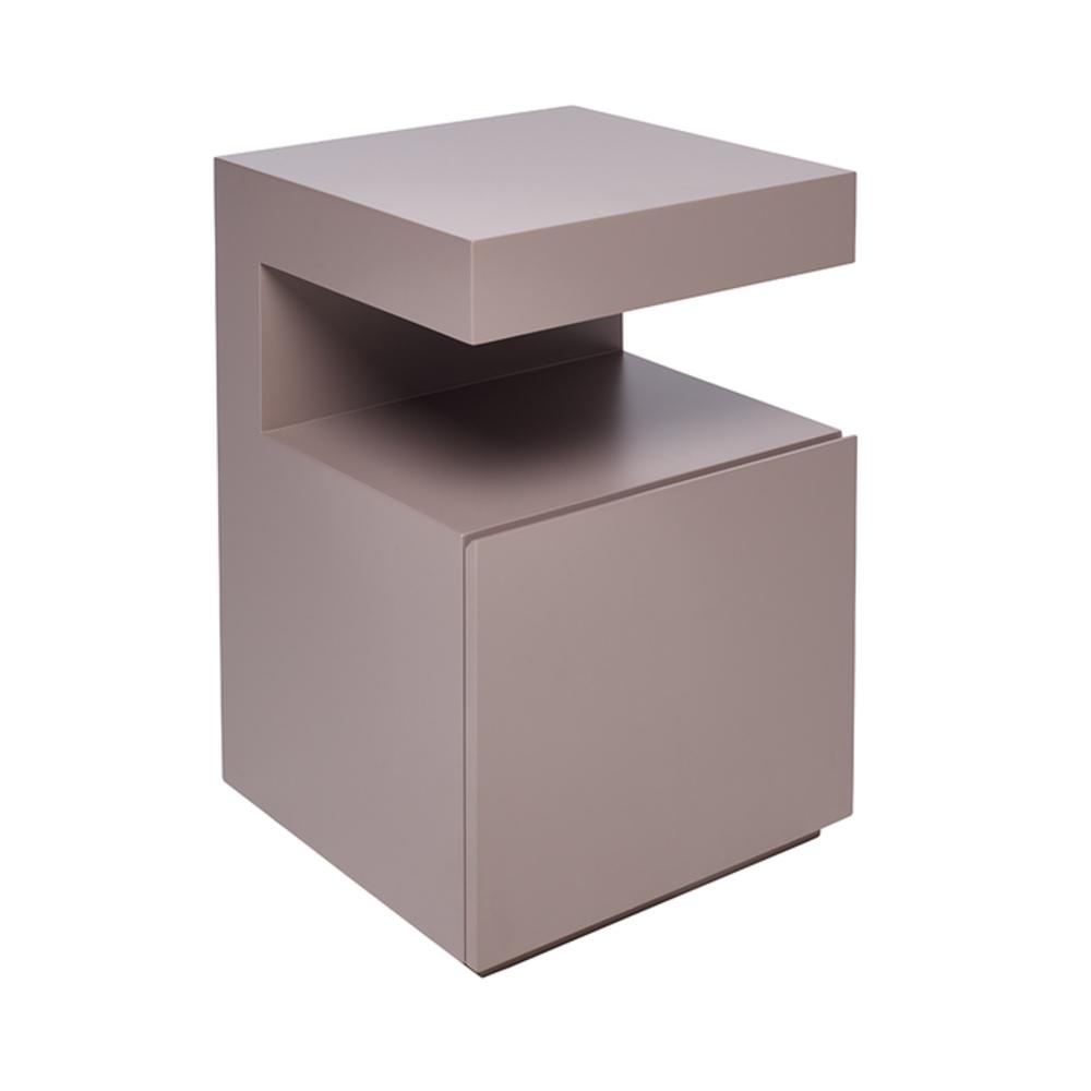 Caja bedside table with drawer stone