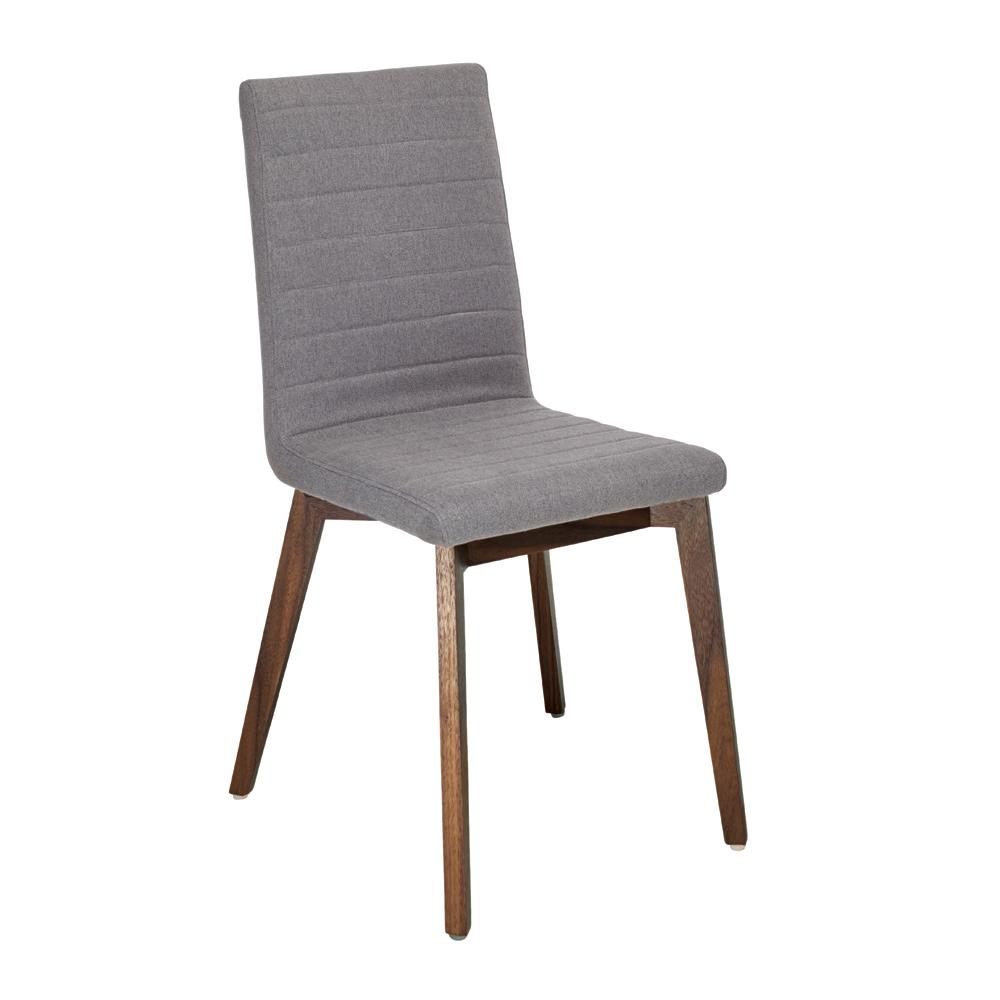 Parquet dining chair fabric grey