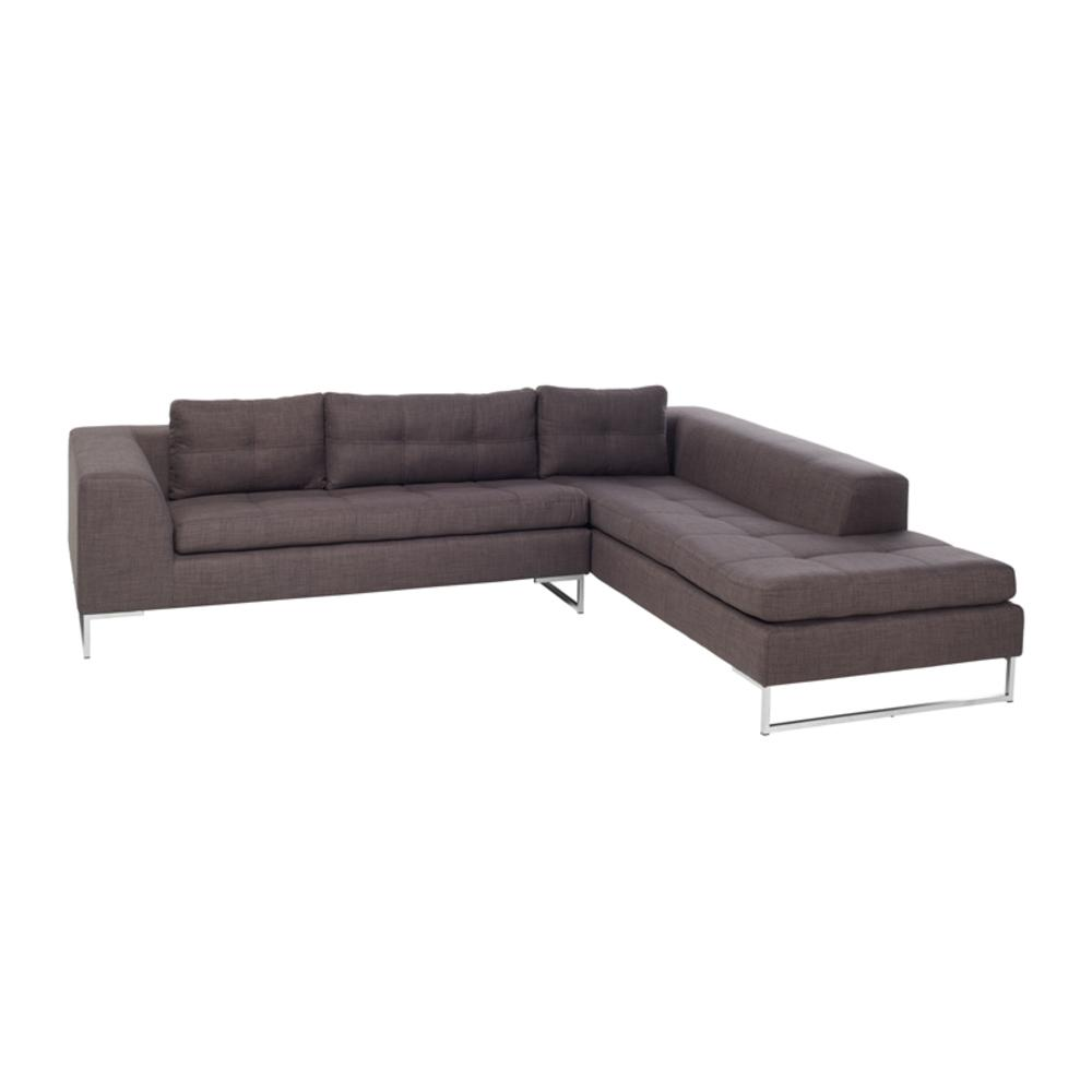 Toleda left hand facing arm corner sofa patet truffle
