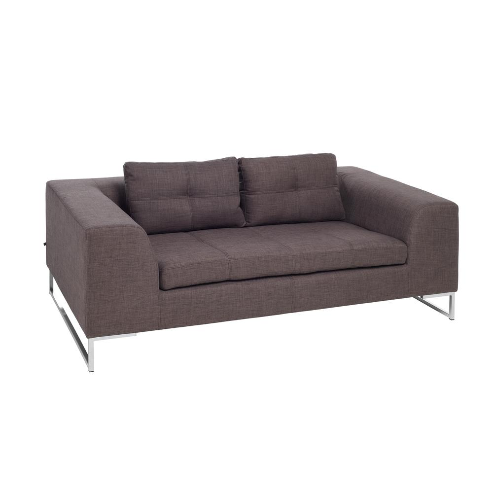 Toleda two seater sofa patet truffle