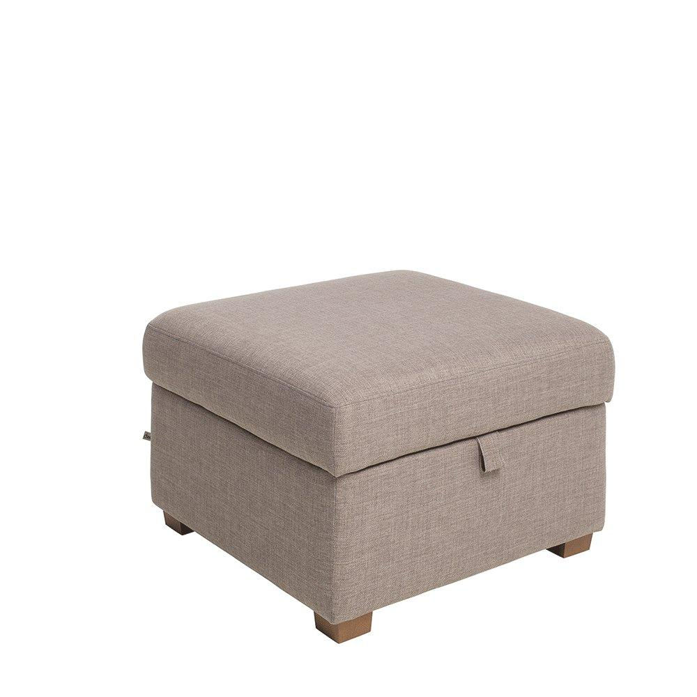 Ankara II storage footstool patet light grey