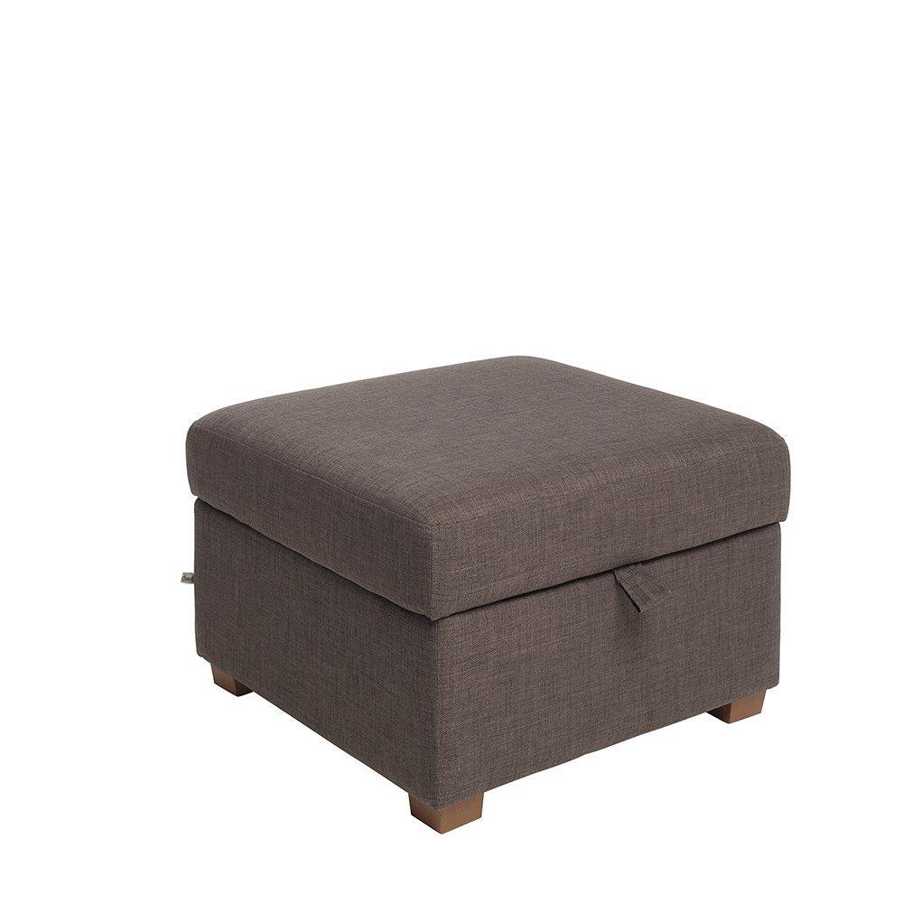 Ankara II storage footstool patet truffle
