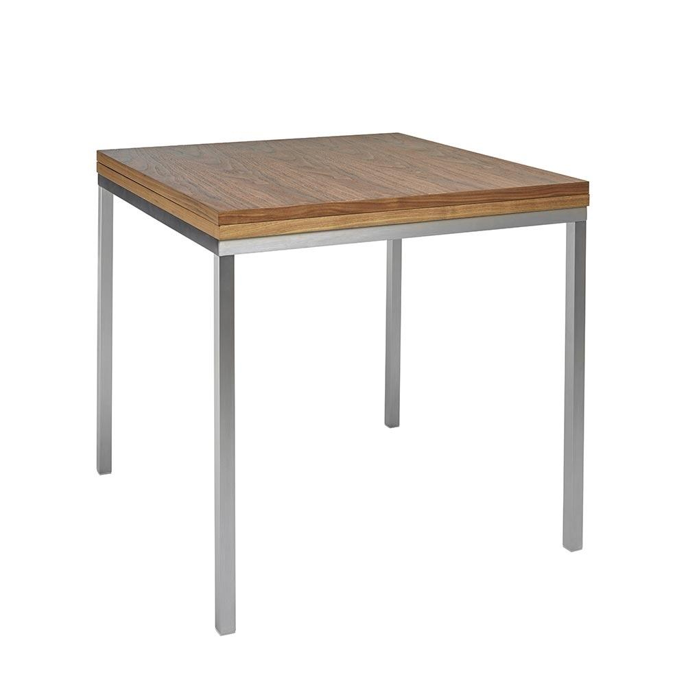 Flick extending 4-6 seater dining table walnut