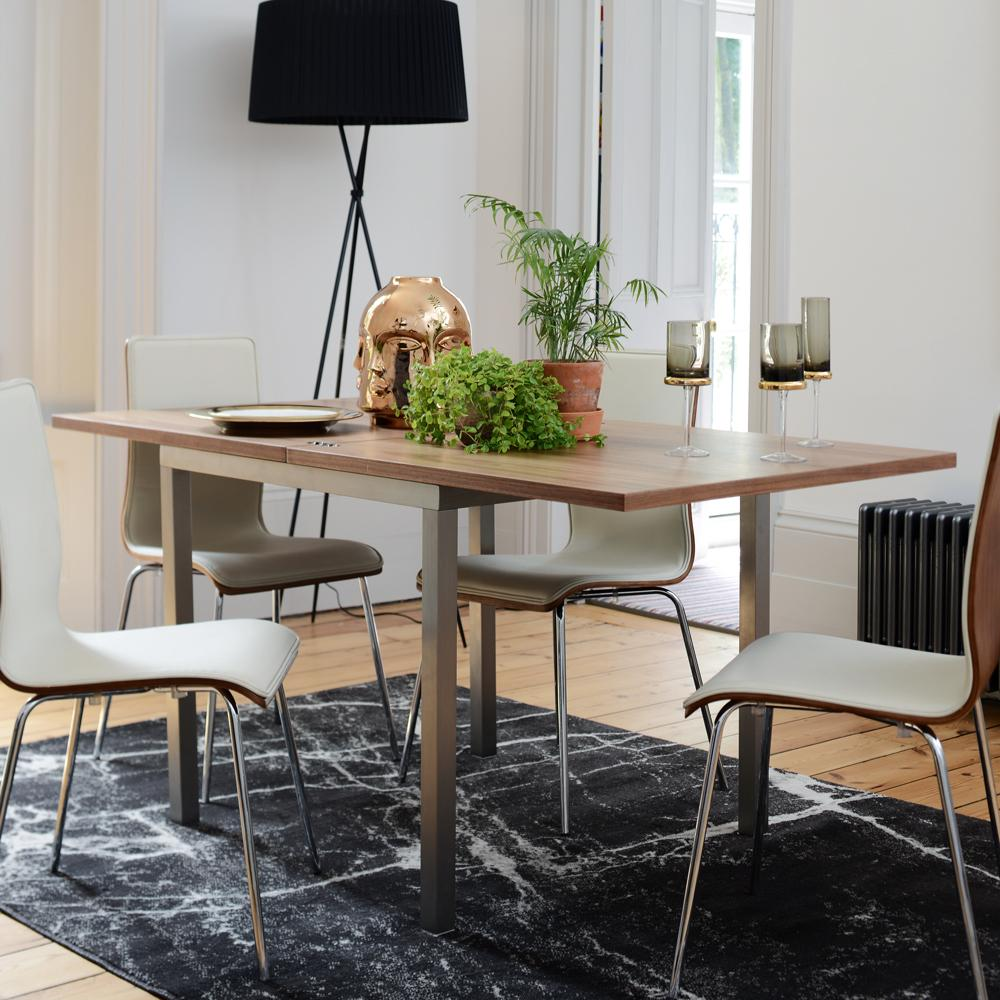 Flick Extending 4 6 Seater Dining Table Walnut Dwell