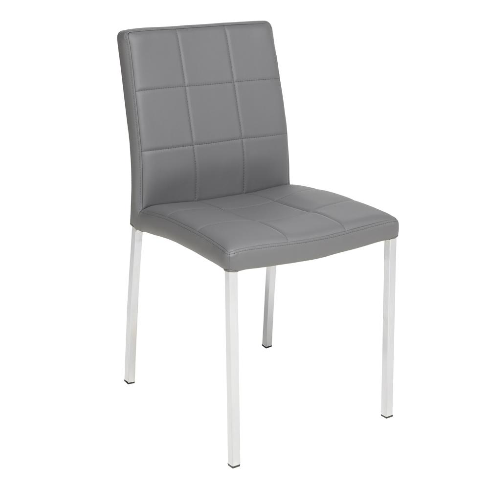 Jenkins faux leather dining chair grey