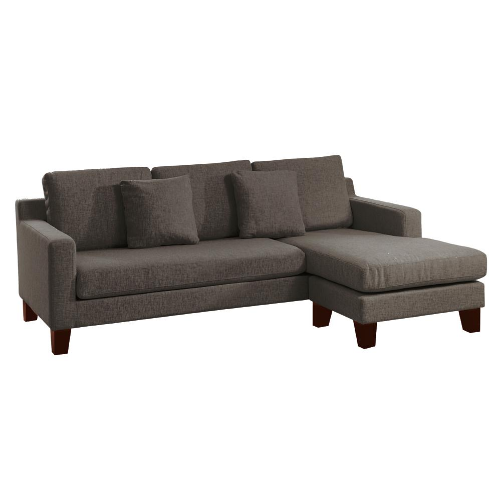 Ankara II right hand facing three seater chaise sofa patet truffle