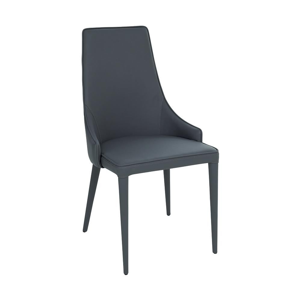 Sottile dining chair faux leather grey
