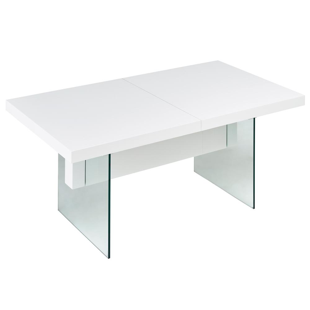Sturado extending 6-8 seater dining table white