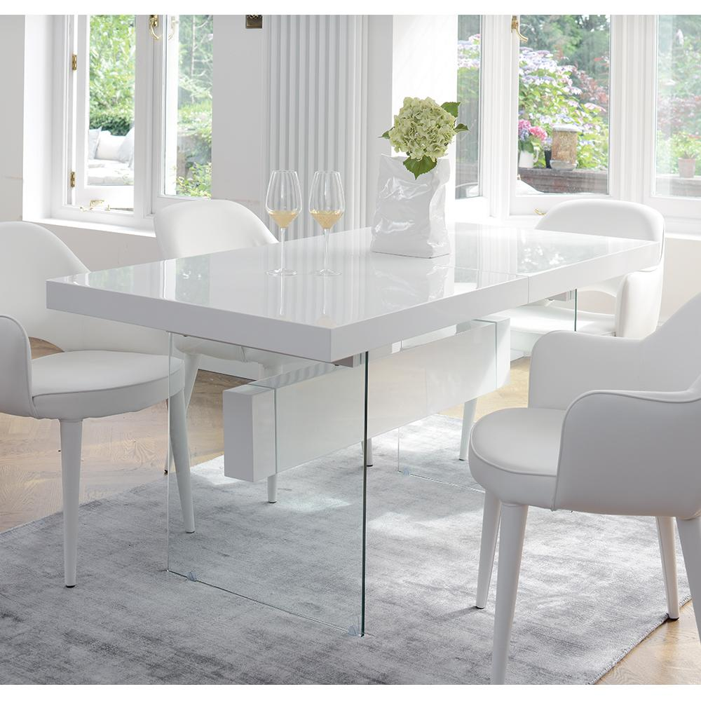 Sturado Extending 6 8 Seater Dining Table White Dwell