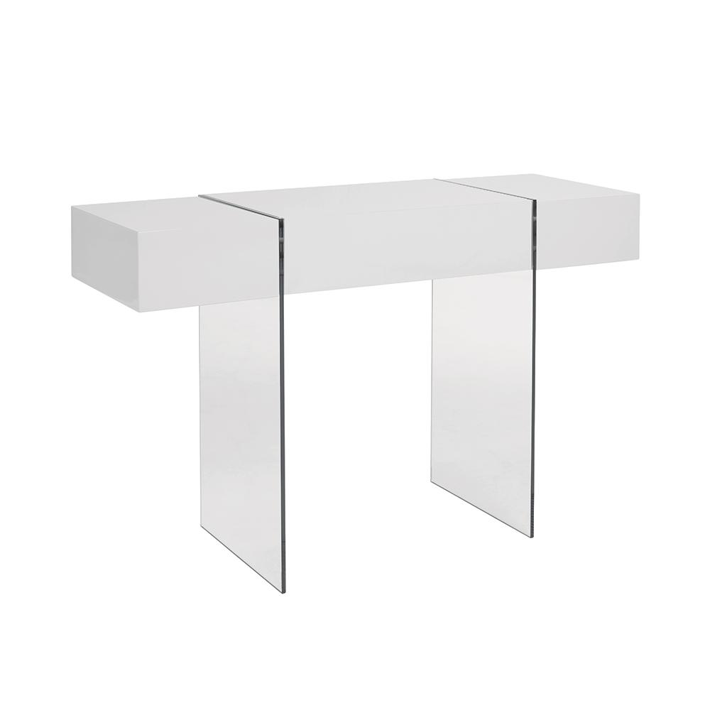 Sturado console table with drawer white