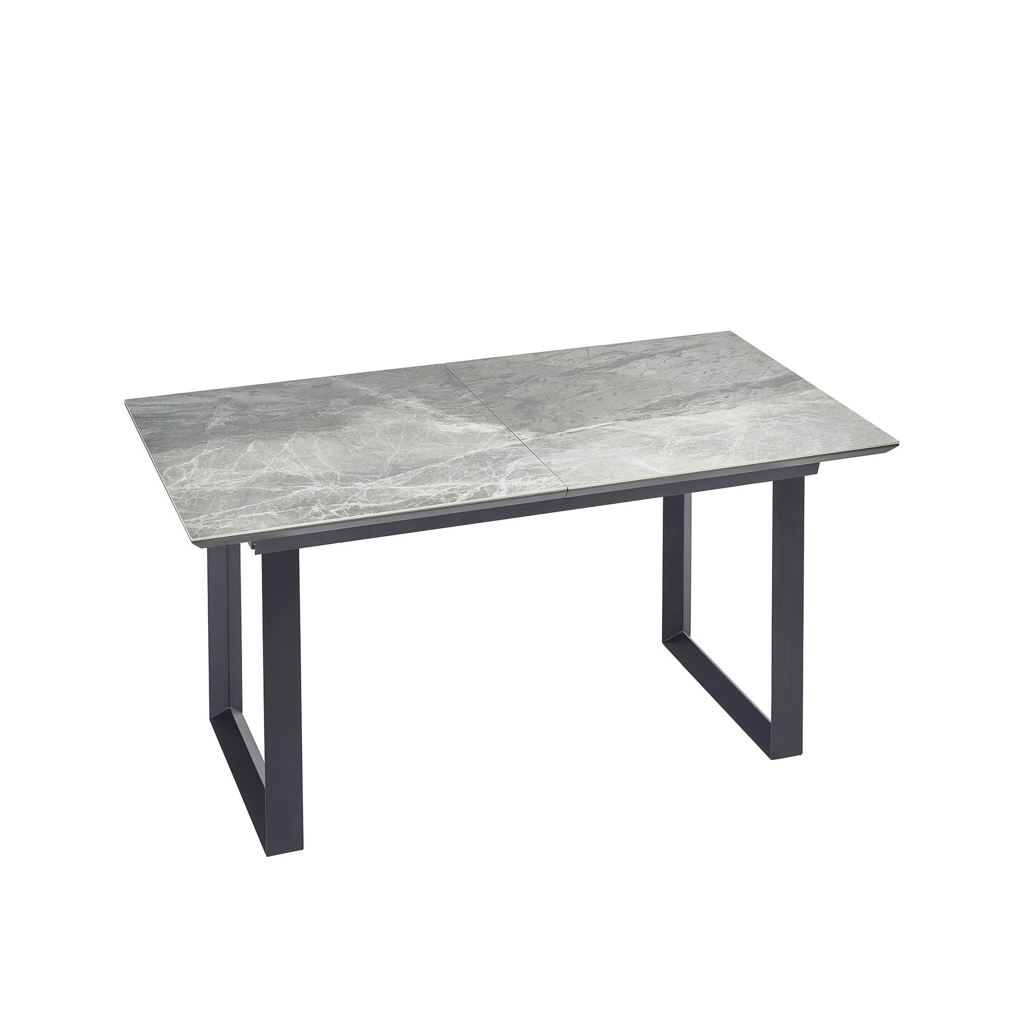 Teno ceramic marble extending 6-8 seater dining table grey