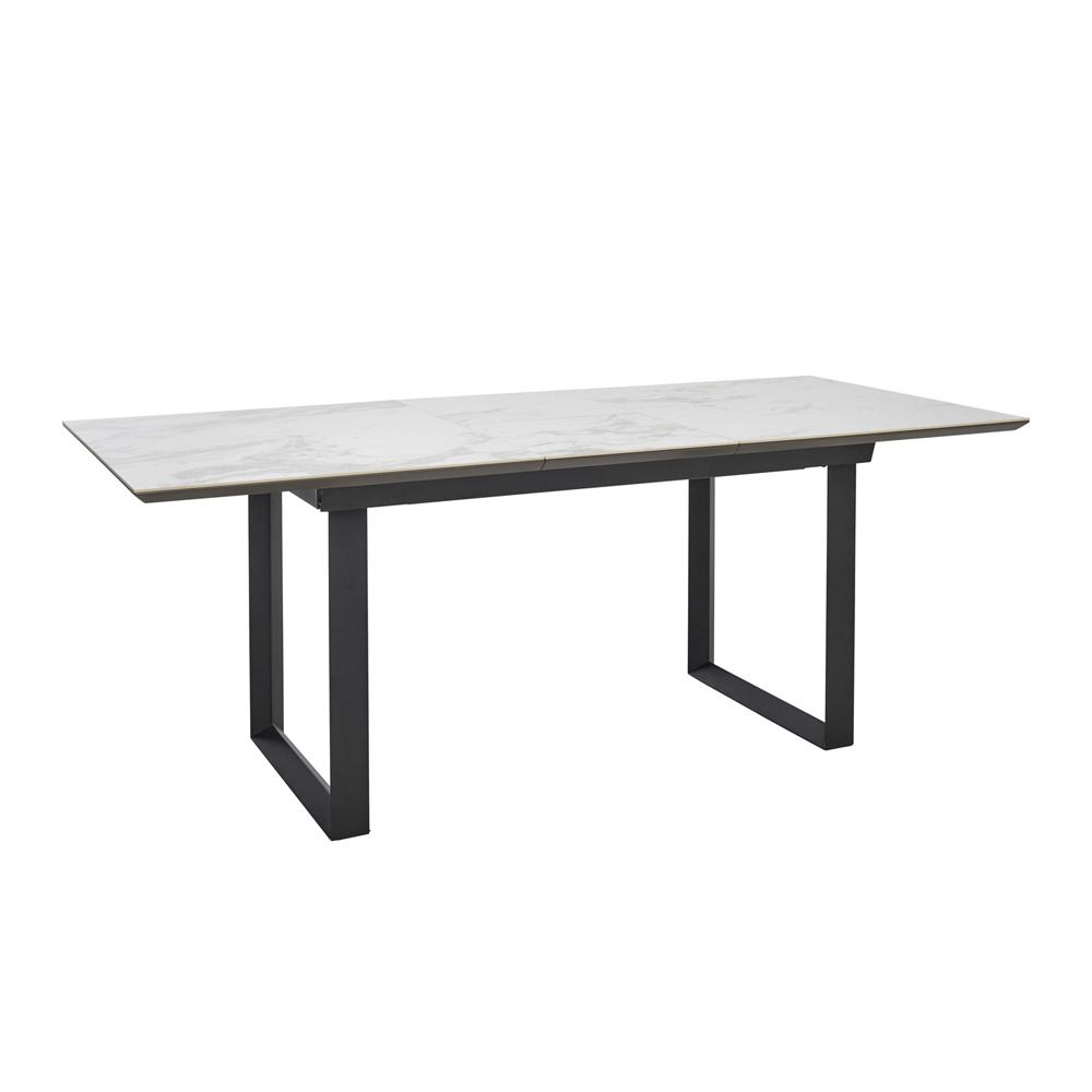 Teno ceramic marble extending 6-8 seater dining table white