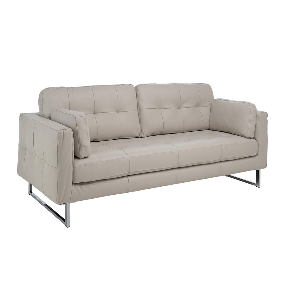 Paris II three seater sofa grano leather stone