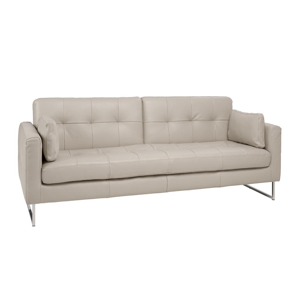 Paris II three seater sofabed grano leather stone