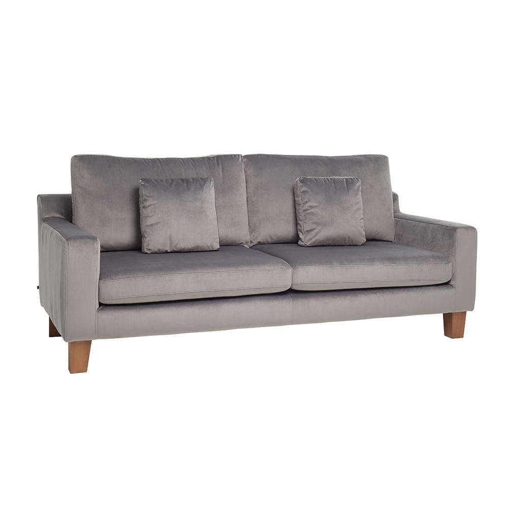 Ankara II three seater sofa alba velvet grey